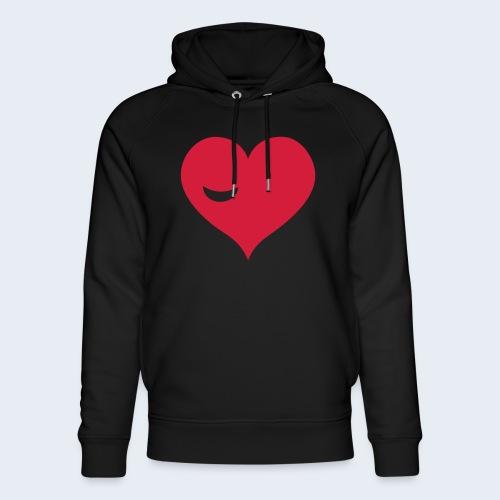 Winky Heart - Uniseks bio-hoodie van Stanley & Stella