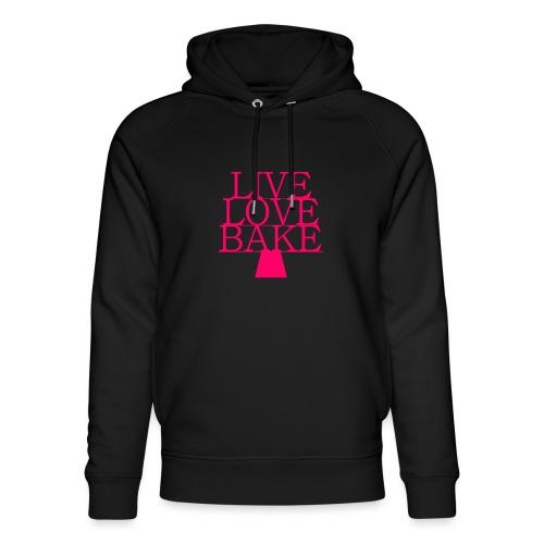 LiveLoveBake ekstra stor - Stanley & Stella unisex hoodie af økologisk bomuld