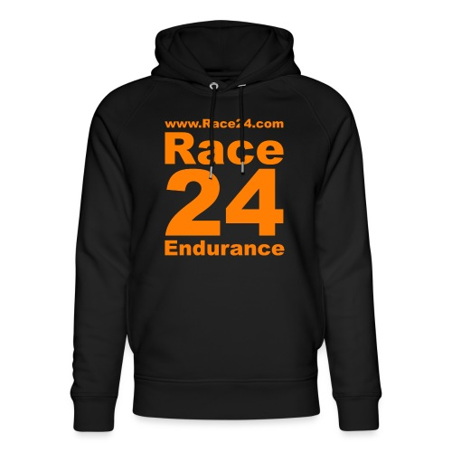Race24 Logo in Orange - Unisex Organic Hoodie by Stanley & Stella