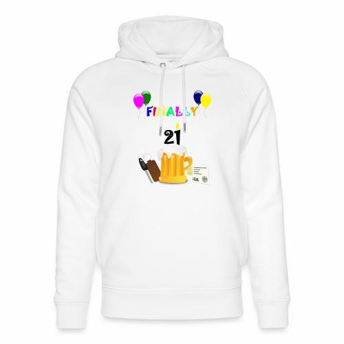 Finally 21 (2) - Unisex Organic Hoodie by Stanley & Stella