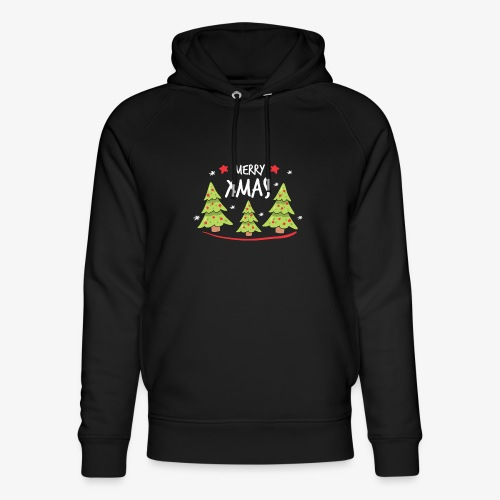 Fir trees and Merry Xmas - Unisex Organic Hoodie by Stanley & Stella