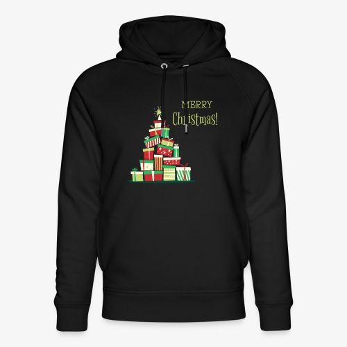 Gifts - Merry Christmas - Unisex Organic Hoodie by Stanley & Stella