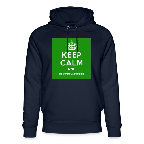 Keep Calm and Get The Chicken Sarni - Green - Unisex Organic Hoodie by Stanley & Stella