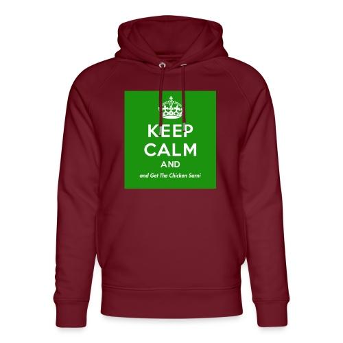 Keep Calm and Get The Chicken Sarni - Green - Unisex Organic Hoodie by Stanley & Stella