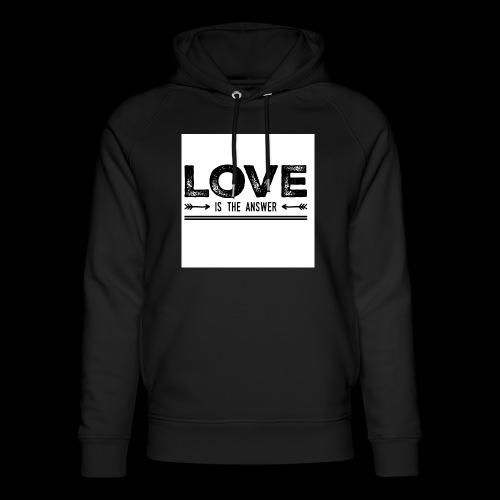 love is the answer - Sweat à capuche bio Stanley & Stella unisexe