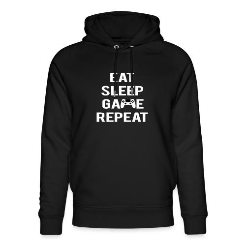 Eat, sleep, game, REPEAT - Unisex Organic Hoodie by Stanley & Stella