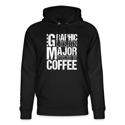 Graphic Design Major Fueled By Coffee - Unisex Bio-Hoodie von Stanley & Stella
