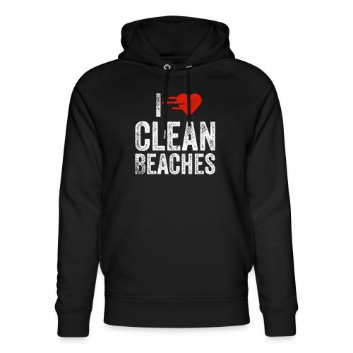 I Love Clean Beaches Shirt Save the Planet Shirt - Unisex Bio-Hoodie von Stanley & Stella
