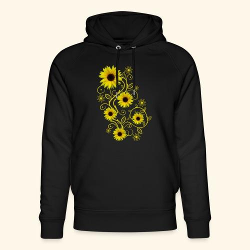 gelbe Sonnenblumen, Ornamente, Sonnenblume, Blumen - Unisex Bio-Hoodie von Stanley & Stella