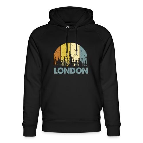 Vintage London Souvenir - Retro Skyline London - Unisex Bio-Hoodie von Stanley & Stella