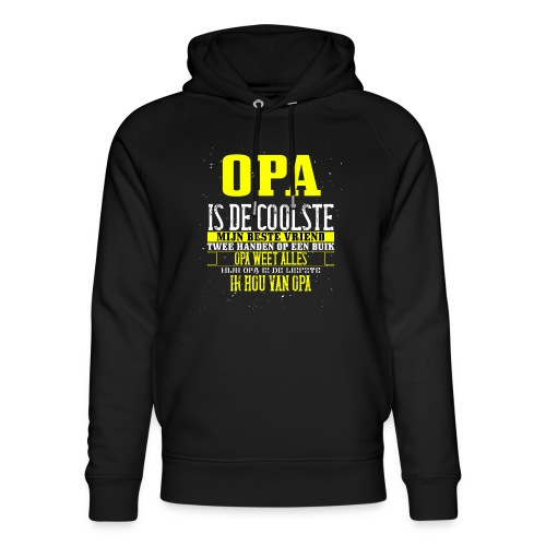 opa is de coolste - Uniseks bio-hoodie van Stanley & Stella