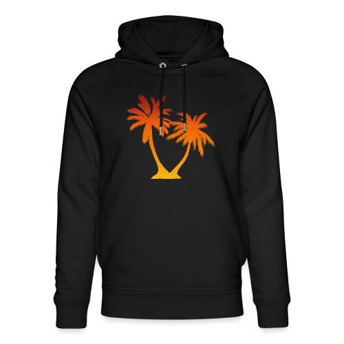 Palm Boom Zonsondergang - Uniseks bio-hoodie van Stanley & Stella