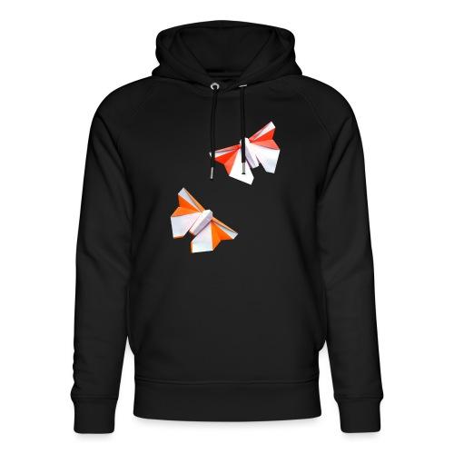 Butterflies Origami - Butterflies - Mariposas - Unisex Organic Hoodie by Stanley & Stella