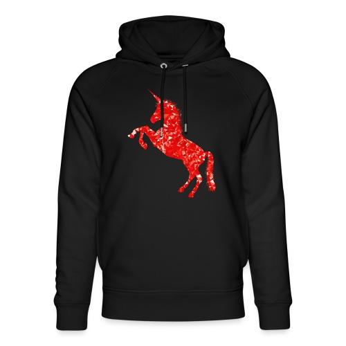 unicorn red - Ekologiczna bluza z kapturem typu unisex Stanley & Stella