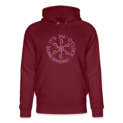 diveoclocklogodlpink png - Unisex Organic Hoodie by Stanley & Stella