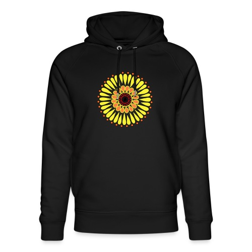 Yellow Sunflower Mandala - Unisex Organic Hoodie by Stanley & Stella