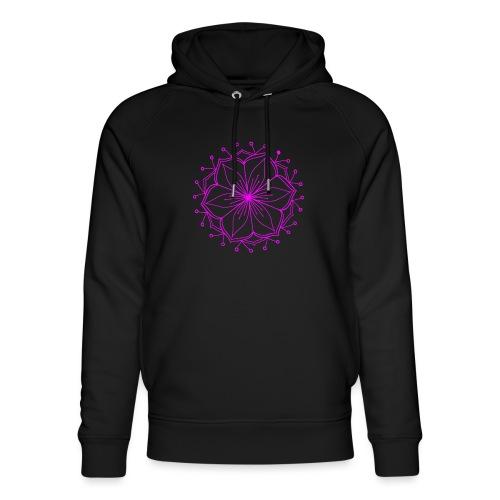 Pink Lotus Mandala - Unisex Organic Hoodie by Stanley & Stella