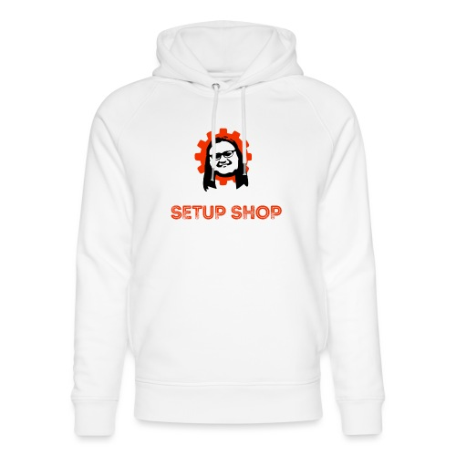 Craigs Setup Shop on black - Unisex Organic Hoodie by Stanley & Stella