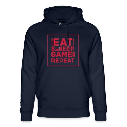 Eat, Sleep, Game, Repeat. - Unisex Organic Hoodie by Stanley & Stella