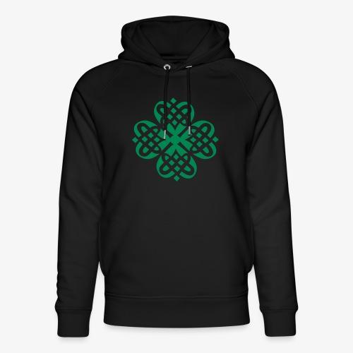 Shamrock Celtic knot decoration patjila - Unisex Organic Hoodie by Stanley & Stella