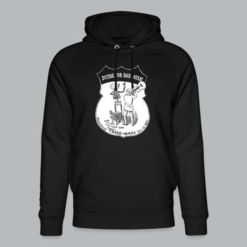 Dying For Bad Music White - Unisex Organic Hoodie by Stanley & Stella