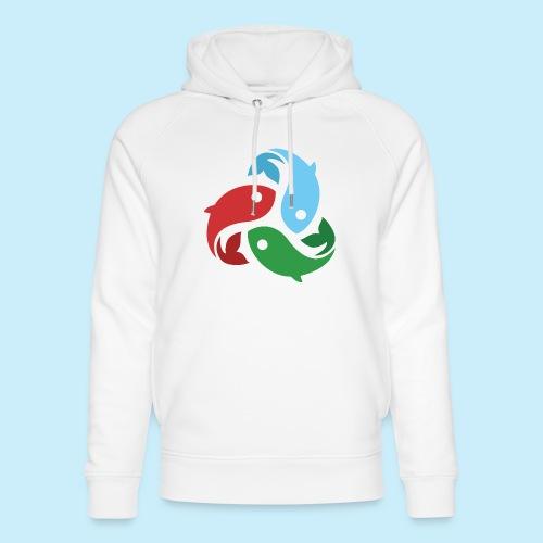 De fiskede fisk - Stanley & Stella unisex hoodie af økologisk bomuld