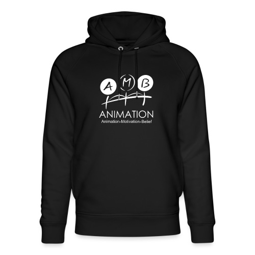 AMB Logo Animation Motivation Belief - Unisex Organic Hoodie by Stanley & Stella