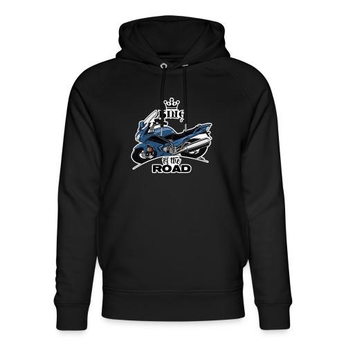 0885 FJR KING of the ROAD (blauw) - Uniseks bio-hoodie van Stanley & Stella