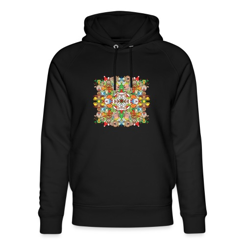 The Christmas crowd is having a great time - Unisex Organic Hoodie by Stanley & Stella