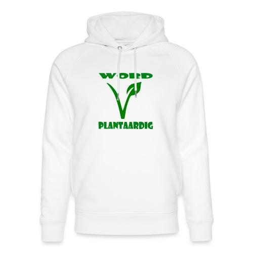 word plantaardig - Uniseks bio-hoodie van Stanley & Stella