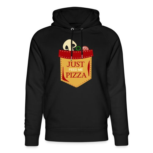Bare mat meg pizza - Unisex økologisk hettegenser fra Stanley & Stella
