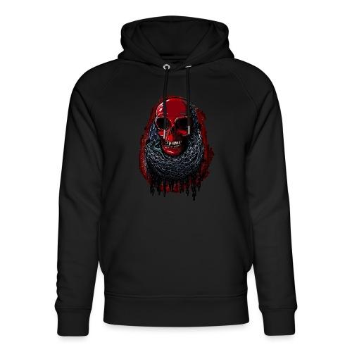 Red Skull in Chains - Unisex Organic Hoodie by Stanley & Stella