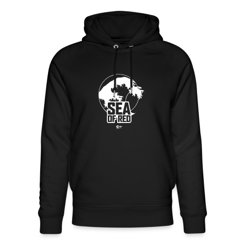 Sea of red logo - white - Unisex Organic Hoodie by Stanley & Stella