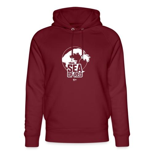 Sea of red logo - white - Unisex Organic Hoodie by Stanley & Stella