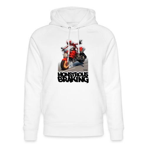 Ducati Monster, a motorcycle stoppie. - Sudadera con capucha ecológica unisex de Stanley & Stella