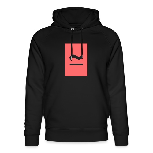 The Commercial Logo (Salmon Pink) - Unisex Organic Hoodie by Stanley & Stella