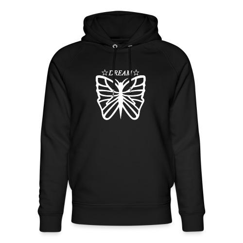 Dream butterfly motiv, black and white. - Ekologisk luvtröja unisex från Stanley & Stella