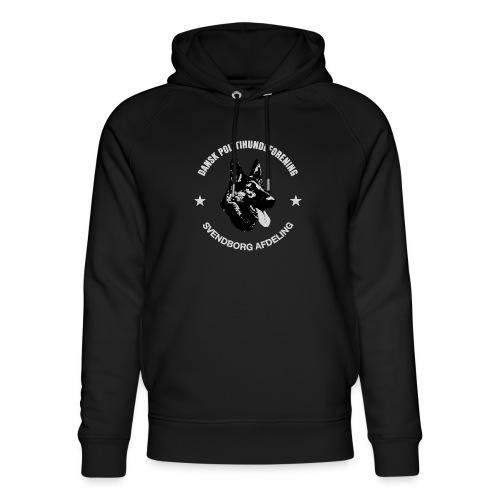 Svendborg PH hvid skrift - Stanley & Stella unisex hoodie af økologisk bomuld