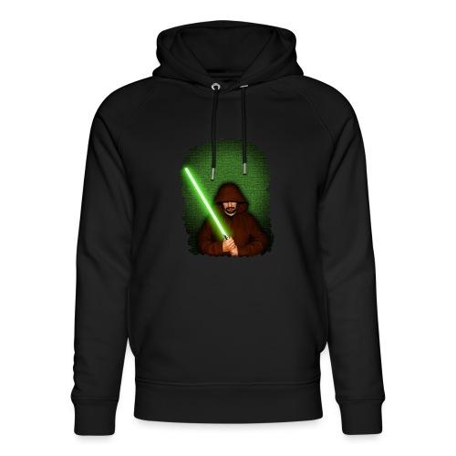 Jedi warrior with green lightsaber - Felpa con cappuccio ecologica unisex di Stanley & Stella