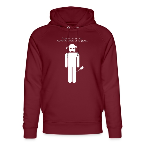 I used to be an adventurer like you... - Unisex Organic Hoodie by Stanley & Stella