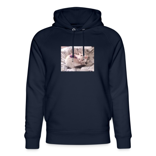 CAT SURROUNDED BY MICE AND BUTTERFLIES. - Unisex Organic Hoodie by Stanley & Stella