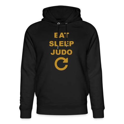 Eat sleep Judo repeat - Ekologiczna bluza z kapturem typu unisex Stanley & Stella