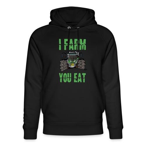 I farm you eat F - Uniseks bio-hoodie van Stanley & Stella