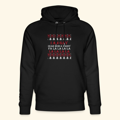 Gay Christmas sweater - Ekologiczna bluza z kapturem typu unisex Stanley & Stella