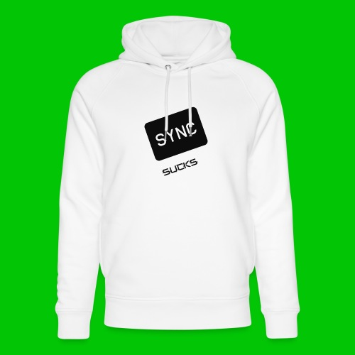 t-shirt-DIETRO_SYNK_SUCKS-jpg - Felpa con cappuccio ecologica unisex di Stanley & Stella