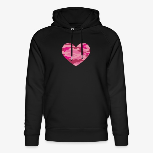Camouflage My Heart - Unisex Organic Hoodie by Stanley & Stella