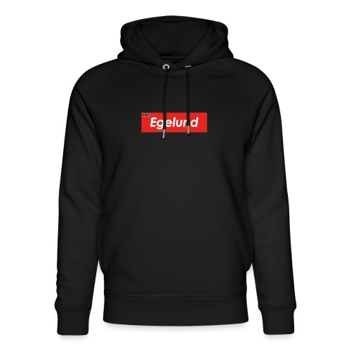 Albert Egelund Box Logo - Stanley & Stella unisex hoodie af økologisk bomuld