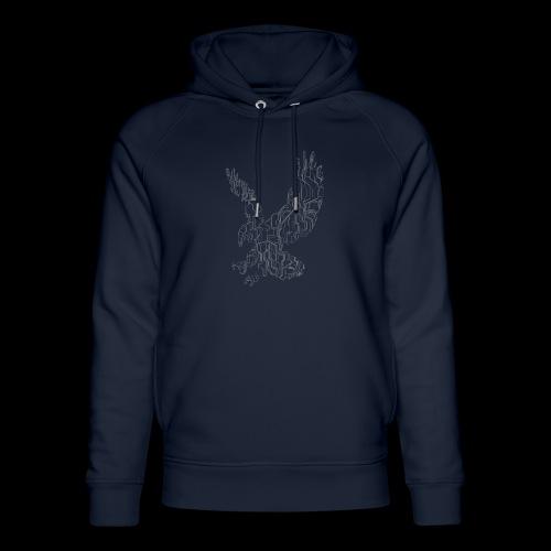 Circuit eagle White - Stanley & Stella unisex hoodie af økologisk bomuld