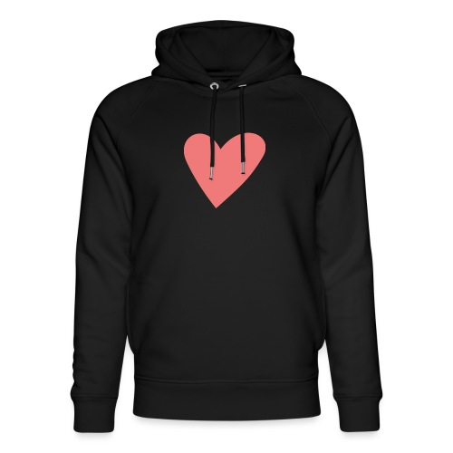 Popup Weddings Heart - Unisex Organic Hoodie by Stanley & Stella