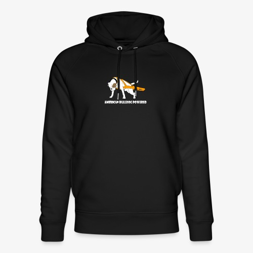 American Bulldog powered - Unisex Organic Hoodie by Stanley & Stella